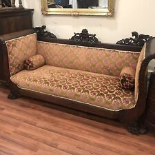 VICTORIAN PHOENIX ROYAL OLYMPIAN SOFA DAYBED COUCH ORIGINAL IRISH VELVET 4-sides