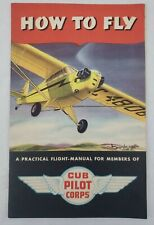 Vintage J-3 Cub Cub Pilots Corp Ww2 Wwii How To Fly Manual World War 2