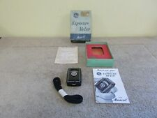 VINTAGE GE EXPOSURE METER W / BOX MASCOT TYPE PR-30 USA CAMERA