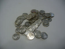 LOT OF 50  PRE 1967  CANADA SILVER COINS  DIMES  ROLL 10 CENTS   NOT JUNK  80%