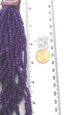 Purple Plum opaque glass seed Bead Gallery size 6o