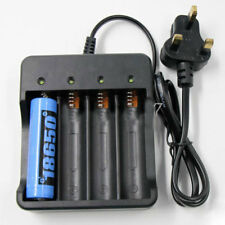 18650 Li-ion Battery Charger Rechargeable 4 Slots for 4X 3.7v Batteries UK