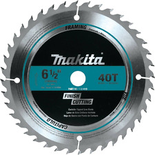 Makita T-01410 40T Fine Crosscutting Carbide-Tipped Saw Blade, 6-1/2""