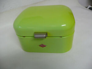 Wesco Brotkasten Single Grandy limegreen Stahlblech 26,8x22x17 cm Klappdeckel
