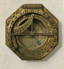 Lorenz Grassl Equinoctial Universal Inclining Pocket Sundial Compass 18th C.