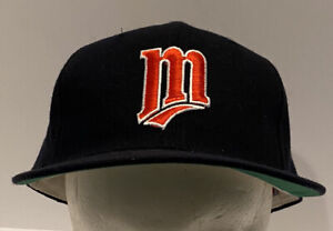 Vtg Minnesota Twins New Era 5950 Pro Model Baseball Hat 7 5/8 Fitted USA Wool