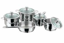 Vinod Stainless Steel Induction Friendly Tuscany Casserole with Glass Lid 5- Pie