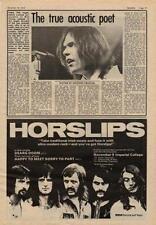 Neil Young UK Interview + Horslips tour advert 1973