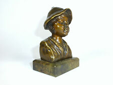 Bronzebüste um 1900 Signiert: Zelezny Bronze Büste