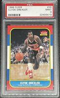 1986 Fleer Basketball Clyde Drexler ROOKIE RC #26 PSA 9 MINT *HIGH END*