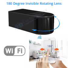 Mini WIFI HD 1080P Hidden SPY Nanny Camera 180° Rotating Lens Motion Detection