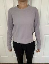 Lululemon Size 6 Every Moment Crew Gray Lavender Gray LAVG Pullover LS Run Yoga
