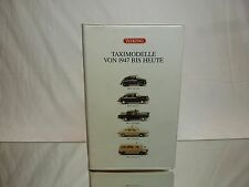 WIKING VW BEETLE CARAVELLE BMW 501 OPEL NSU - 1947 TAXI 1:87 - GOOD IN VIDEO BOX