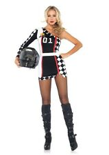 Sexy First Place Racer Girl Costume, Leg Avenue M/L (12-14), Race Car Driver
