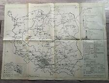 39 - CARTE ANCIENNE - PRINCIPAUX INVESTISSEMENTS INDUSTRIELS POLOGNE DEPUIS 1947