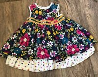 Mamas And Papas Dress 6-9m Baby Girl Layered Floral Pretty Summer