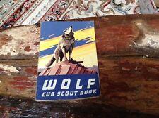 Vintage BSA Cub Scout Wolf Book Copyright 1954