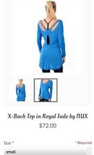 New With Tags Women's Nux Top, Blue, Small Retail In Stores Now @ $72!