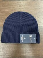 100% Cashmere Beanie Hat | Johnstons of Elgin | Made in Scotland | Navy | Soft