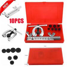 Brake & Air Line Double Flaring Tool 10pc Kit Water Gas Line Automotive Plumbing