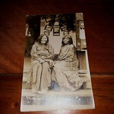 Real Photo Native American Postcard-Mescalero Indian Squaws