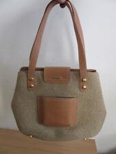 Eric Javits, New York Leather & Tweed handbag purse CLEAN