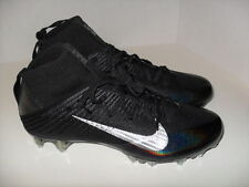 Nike Vapor Untouchable 2 Football Cleats Black Metallic Silver 824470-002 Sz 10