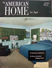 American Home Magazine April 1952 Ads Decor Crafts Parties Cooking Garden