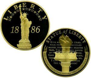 JUMBO STATUE OF LIBERTY ANNIVERSARY COMMEMORATIVE S COIN PROOF $199.95