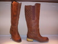 Timberland stivali alti al ginocchio impermeabili waterproof donna pelle marroni