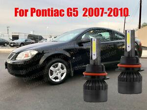 LED For Pontiac G5 2007-2010 Headlight Kit 9007 HB5 6000K White Bulbs Hi-Lo Beam