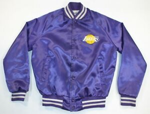 VTG Chalk Line Los Angeles Lakers Satin NBA Basketball Jacket Youth Boys 18/20