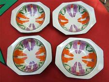 Antique 4 x Wilkinson Dishes England  Honey Glaze Painted 1930's