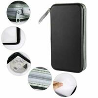 80 Disc CD DVD Organizer Holder Storage Case Bag Wallet Album Media Portable