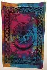 Tie-Dye Sign Cotton Tapestry Wonder Native Moon Poster Star Wall Hanging Hippie