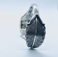 BEAUTIFUL SOLID STERLING SILVER 925 BANGLE WITH FEATHER DESIGN. GIFT PACKAGED.