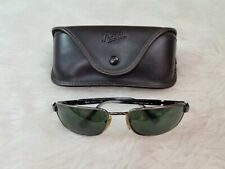 Vintage Persol 2128-S 513/31 62□19 125 Polarized Black Green Sunglasses Italy