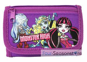 Mattel Monster High Wallet Kids Coin Purse Tri-Fold Bag Girls Wallet
