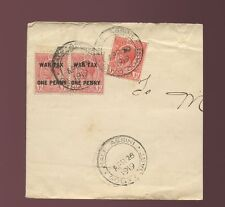 GOLD Coast Half Assini 1919 GUERRA BOLLI combinazione su busta parte
