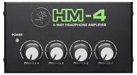 Mackie HM-4 4-Way Distribution Headphone Amplifier Amp w/4 Headphone Outputs