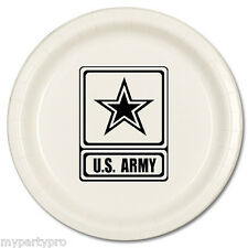 US ARMY DINNER PLATES Party Supplies FREE SHIPPING