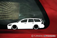 2x LOW Volvo V50 estate wagon (2nd Gen) silhouette, outline stickers, Decals