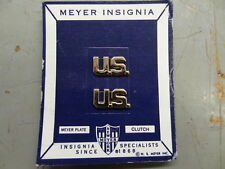 U.S. ARMY OFFICER - U.S. COLLAR INSIGNIA - PAIR ON CARD