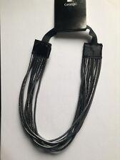 un noir et argent multi-brins à élastique tête / cheveux/ Kylie bande
