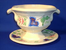 """SIMPSONS POTTERS GREENFIELD VILLAGE OPEN SAUCE BOAT  7 5/8"""""""