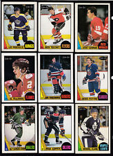 1987-88 OPC  STARS & ROOKIES LOT OF (9) ROBITAILLE TOCCHET YZERMAN ... ....