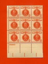 MAHATMA GANDHI Plate Block of 9  X 4 cents Scott SC#1174 MNH OG 1961 USA STAMPS