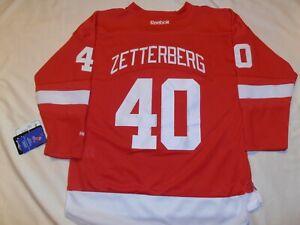 New w/ tags REEBOK Detroit Red Wings HENRIK ZETTERBERG #40 Embroidered Jersey