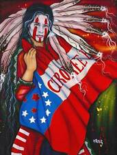 """""""Cherokee Brave"""" by Henri Peter 27.5x 39"""" Signed Canvas Reproduction"""