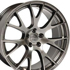 "22"" Hellcat Style Wheels For Dodge Ram 1500 Dakota Durango Hyperblack Rims Set 4"